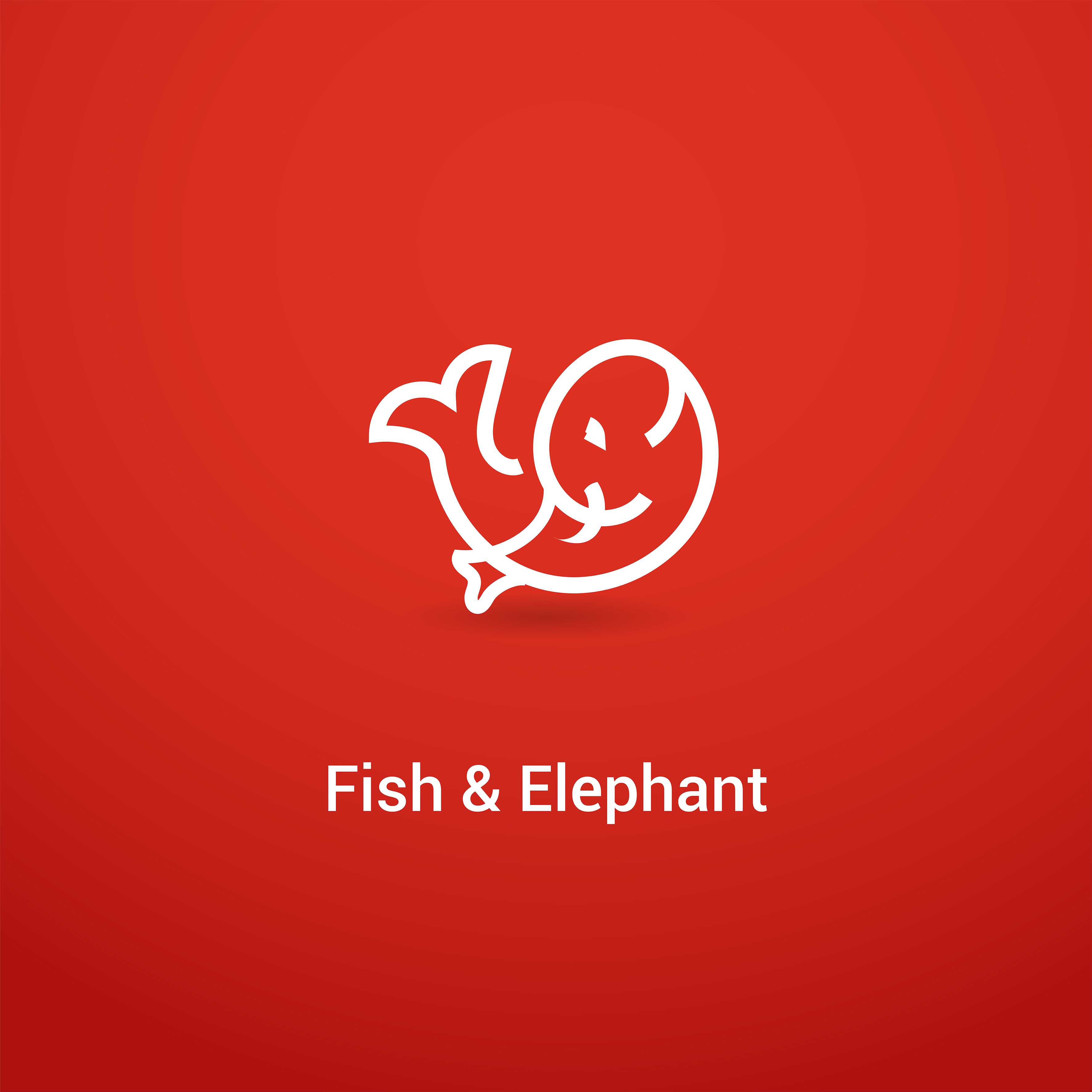 Logo combination of fish and elephan kecil