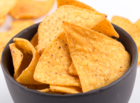Normal corn nachos chips