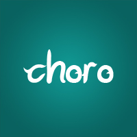 Choro text on tosca green
