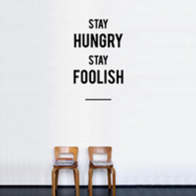 Normal hu2 stay hungry stay foolish sticker