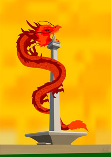 Dragon on monas