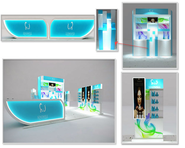 Interior / Booth Design | Design counter body care and perfume di