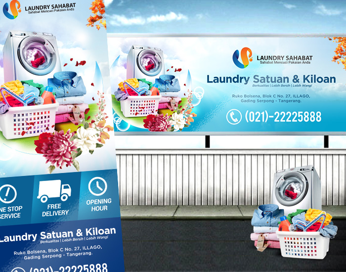 Newest For Gambar Spanduk Laundry